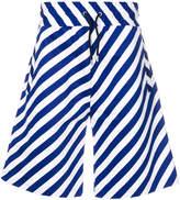 Kenzo diagonal stripe track shorts