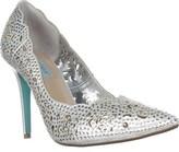 Betsey Johnson Elsa Scalloped Rhinestone Evening Sandals, Silver.