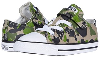 Converse Chuck Taylor(r) All Star(r) 1V Camo (Infant/Toddler) (Black/Khaki/White) Boy's Shoes