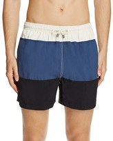 Solid & Striped Classic Color Blocked Swim Trunks