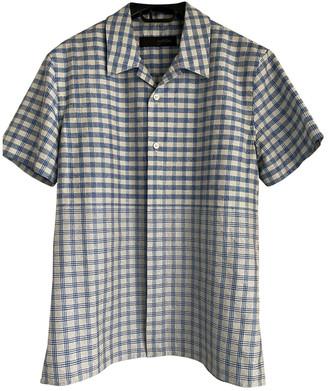 Louis Vuitton Blue Silk Shirts