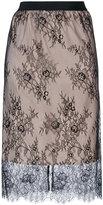 Twin-Set lace detail skirt - women - Polyamide/Polyester - 40