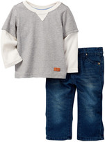 7 For All Mankind Twofer Tee & Jean 2-Piece Set (Baby Boys)