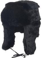 Crown Cap Men's Fur Trapper Hat-BLACK