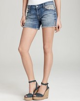 Shorts - Carlie Cutoff Denim Shorts with Artisan Pockets