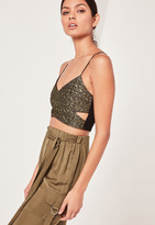 Missguided Gold Quited Bralet