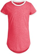 Poof Too Contrast Ringer Shirt - Crew Neck, Short Sleeve (For Big Girls)