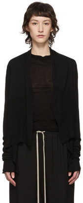 Rick Owens Black Wrap Cardigan