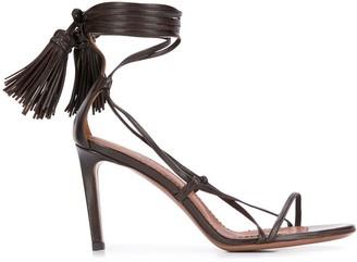 L'Autre Chose Wrap Around Tassel Sandals