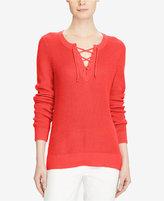 Lauren Ralph Lauren Lace-Up Sweater
