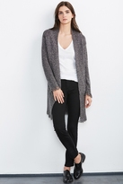 Grahm Mixed Stitch Fringe Cardigan