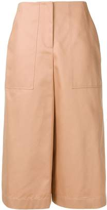 Jil Sander Navy wide leg cropped trousers
