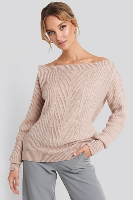 Trendyol Off Shoulder Knitted Sweater Grey