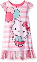 Hello Kitty Toddler Girls' Striped Dorm Nightgown