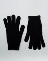 Ps By Paul Smith Wool Gloves Black