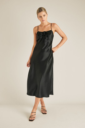 Seed Heritage Tie Front Slip Dress