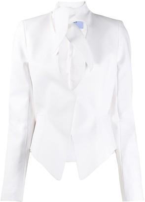 Thierry Mugler Neck Detail Jacket