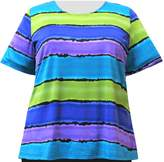 A Personal Touch Women's Plus Size Knit Top Painted Stripe