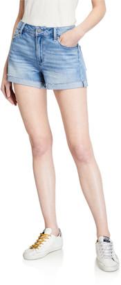 Paige JJ Denim Shorts w/ Rolled Cuffs