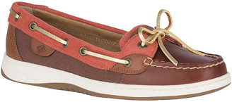 Sperry Top Sider Women's Boat Shoes DARK - Dark Brown & Rust Corduroy Angelfish Leather Boat Shoe - Women