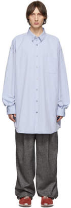 Maison Margiela Blue Oversized Washed Shirt