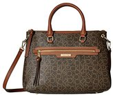 Calvin Klein Monogram Satchel Shoulder Bag