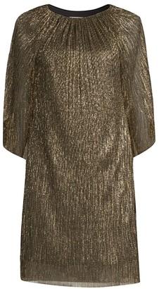 Trina Turk Eastern Luxe Hima Metallic Cape Dress