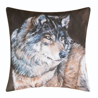 C&F Home Wolf Printed 18 Inch Accent Decorative Accent Throw Pillow