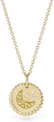 David Yurman 18k Cable Collectible Moon & Star Pendant Necklace