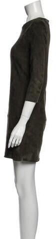 Thumbnail for your product : Jitrois Lamb Leather Mini Dress Green
