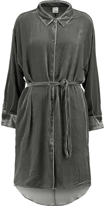 Iris & Ink Jessica Belted Velvet Dress