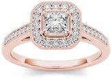 MODERN BRIDE 1/2 CT. T.W. Diamond 14K Rose Gold Engagement Ring