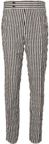 Haider Ackermann - Slim-fit Tapered Striped Wool And Cotton-blend Twill Trousers