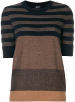 Jil Sander Navy striped knitted top