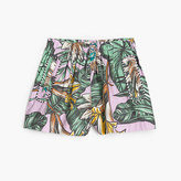 J.Crew Girls' skirty short in pastel frond print