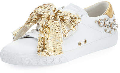Ash Demon Sneaker with Sequin Bow