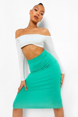 boohoo Basic Midi Jersey Tube Skirt