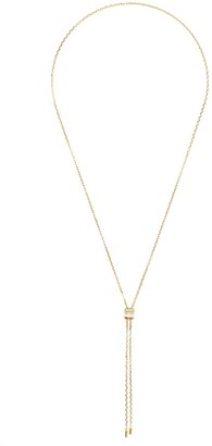 Boucheron 18kt yellow, white and red gold Quatre mini tie diamond and white ceramic necklace