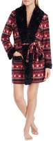 Kensie Fair Isle Micro Fleece Wrap Robe