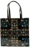 Ted Baker Large Tanicon Unity Flag Icon Tote - Black