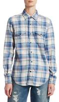 Saint Laurent Plaid Western Shirt