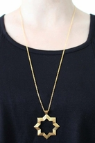 Chibi Jewels Large Arabesque Star Necklace in Brass