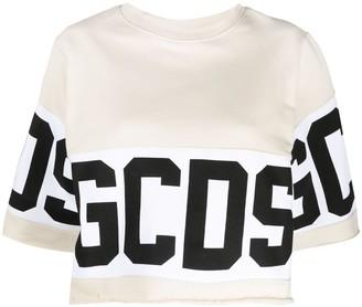 GCDS Cropped Logo-Print Sweatshirt