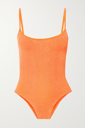 Hunza G Net Sustain Maria Seersucker Swimsuit