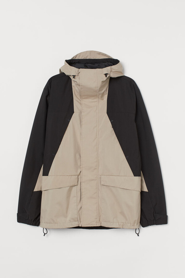 H&M Water-repellent Shell Jacket - Beige
