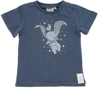 Wheat Dumbo Print Cotton Jersey T-shirt