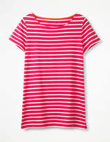 Short Sleeve Breton Pink Women Boden