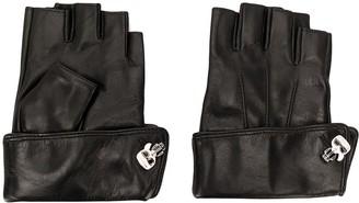 Karl Lagerfeld Paris K/Ikonik pin cuff gloves