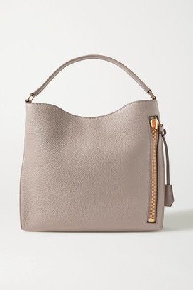 Tom Ford Alix Textured-leather Shoulder Bag - Taupe