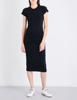 James Perse Ruched stretch-jersey midi dress